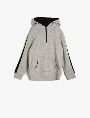 Koton Kids Kapüşonlu Sweatshirt Gri